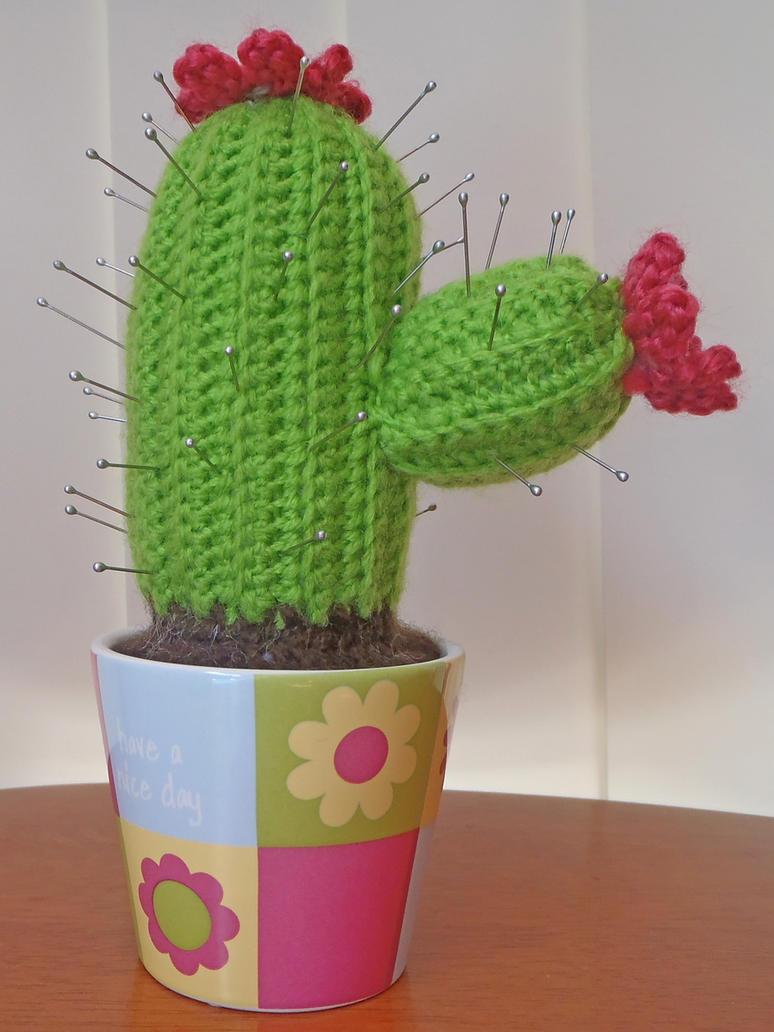 Crochet Cactus Pincushion Free Pattern : Crochet Cactus Pin Cushion by maggieambi on DeviantArt
