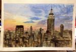 City Scape Watercolor