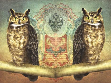 Great Horned Owl Royal design