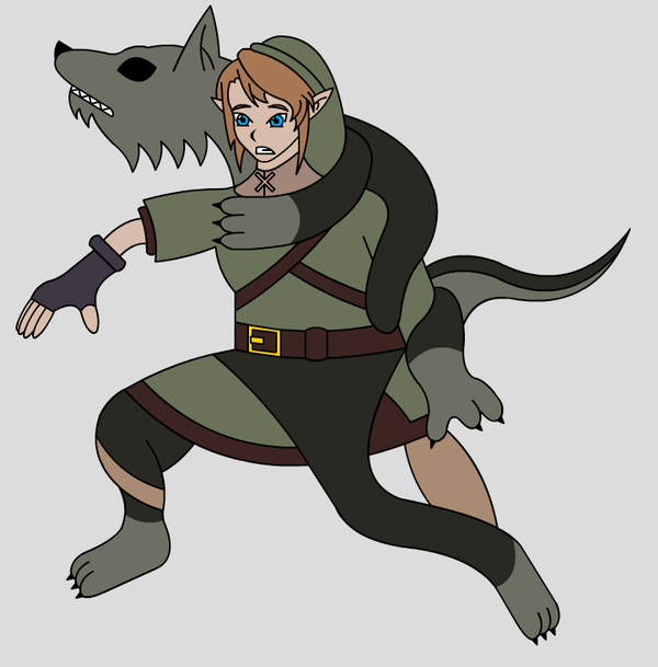 Living Suit Of Wolf Link 1 By LiquidPhazon On DeviantArt