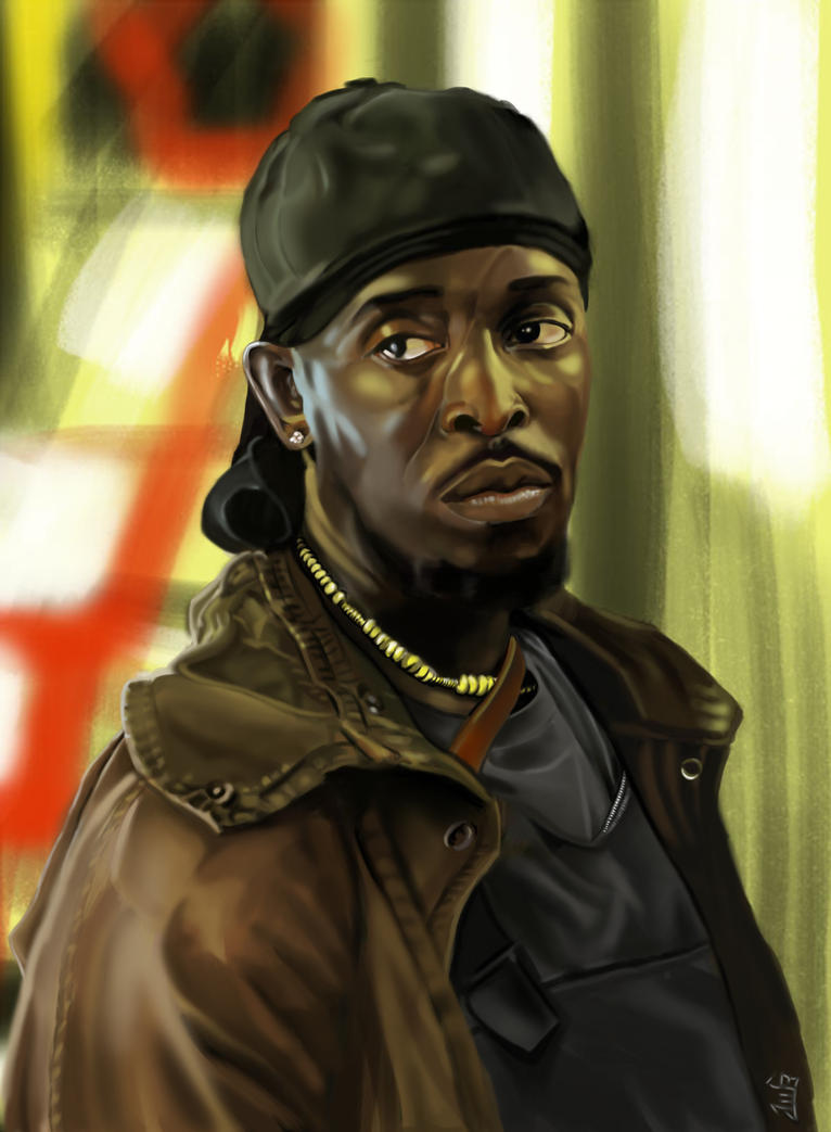 Omar Little The Wire By Lownlymusic