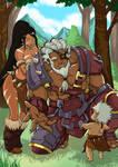 League of Legend Rengar and  nidalee(human form) by MemorialComics