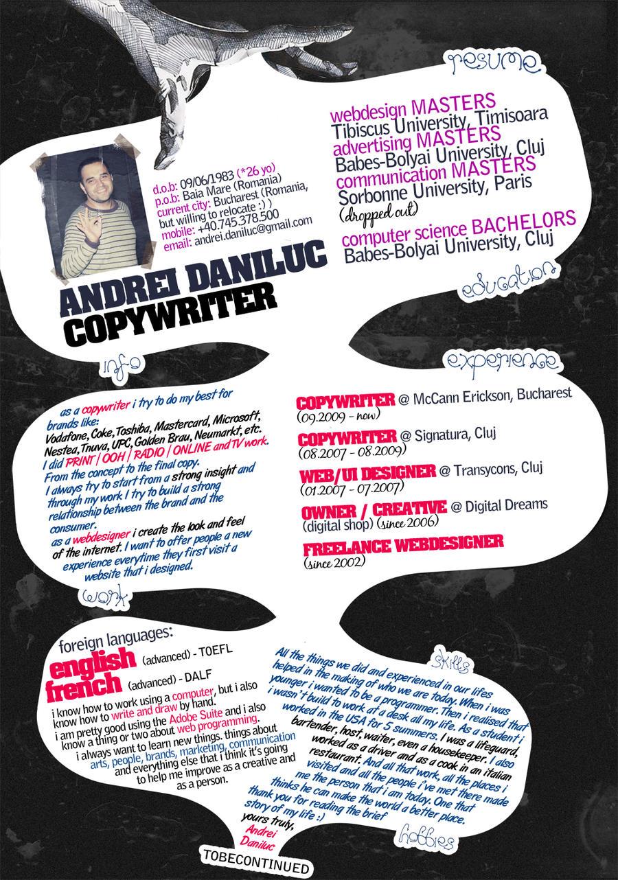 resume - cv - curriculum vitae by habooboo
