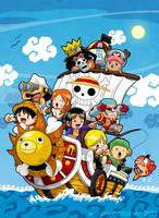One Piece: The Sunny Crew by waranabatokwa