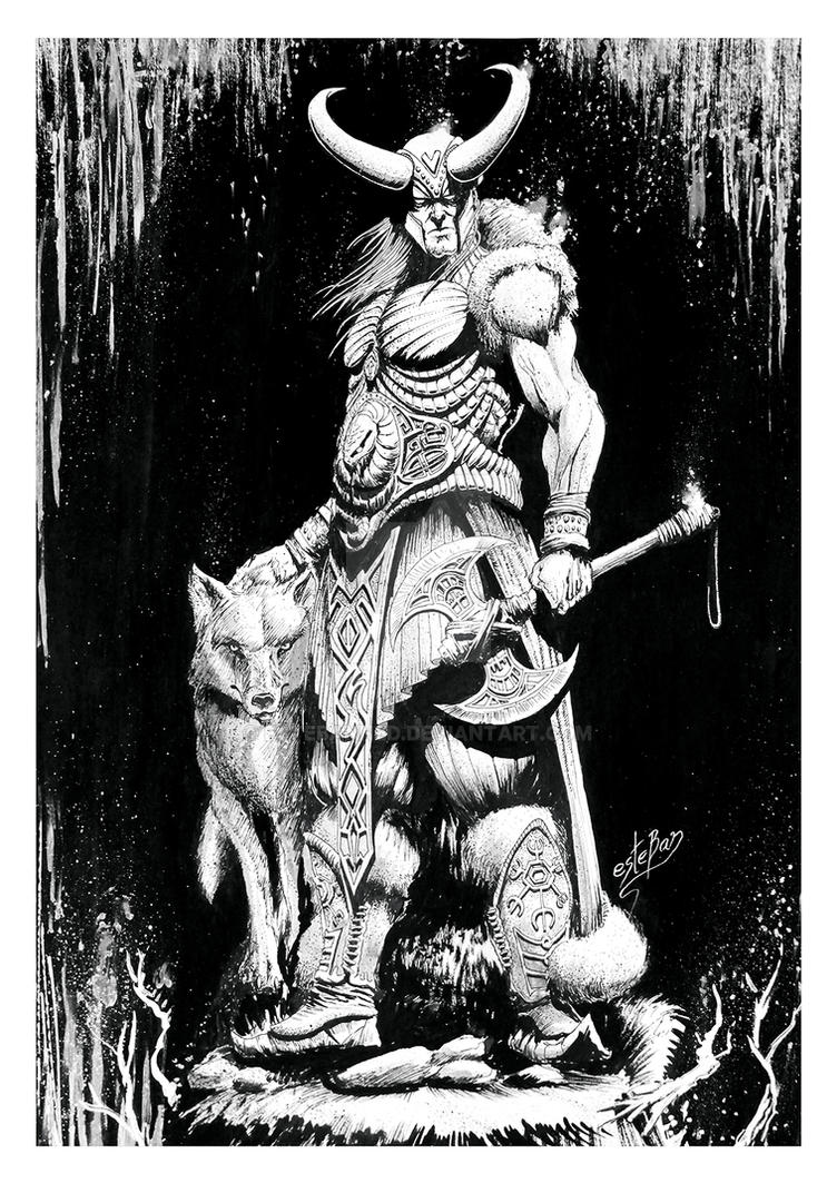 Loki traditional art by Estebanned