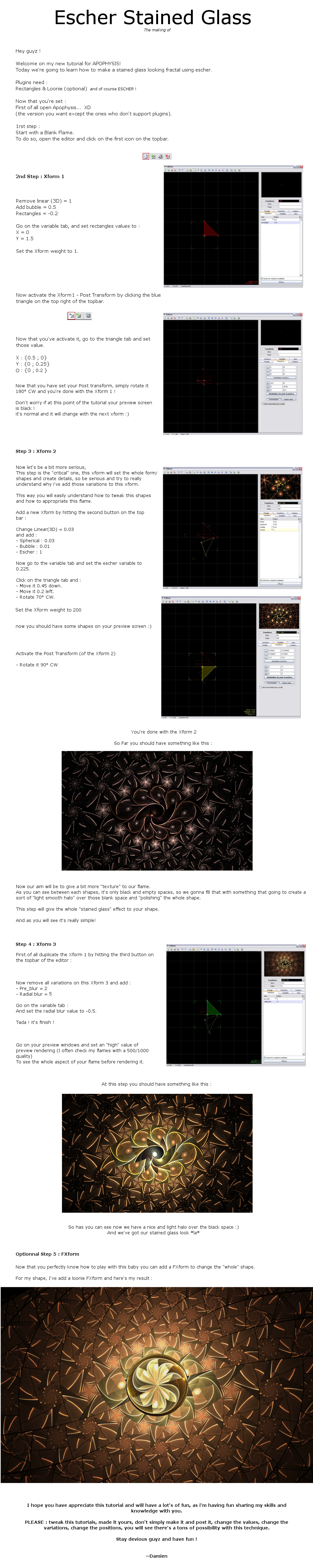 Tutorial - Escher StainedGlass by SaTaNiA