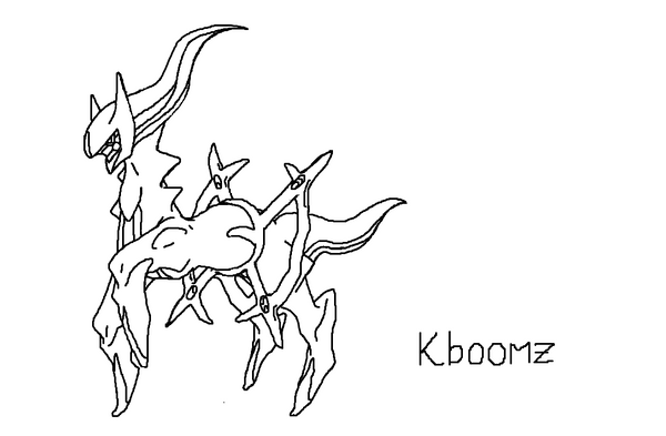 #493 Arceus - Alpha Pokemon by Kboomz on DeviantArt