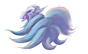 Type Collab: Fire it up - Shiny Ninetales by Kboomz