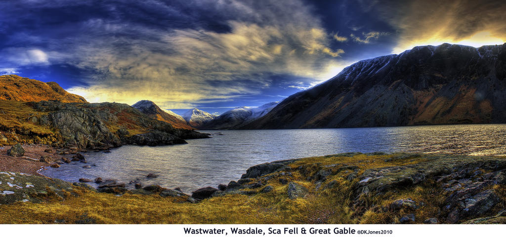 Wasdale Panorama HDR by dkj1974