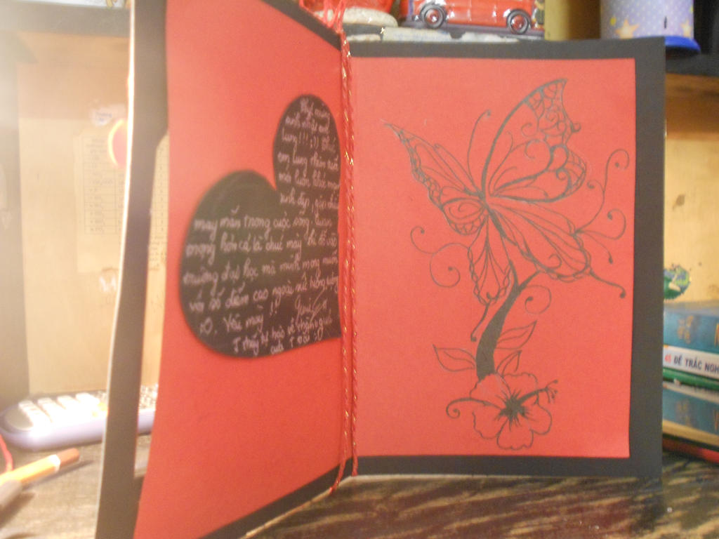 Handmade Birthday Card Inside By Unibuti On Deviantart