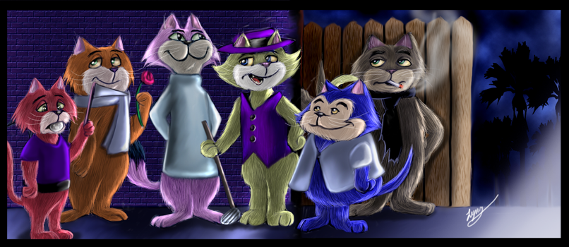 Alley Cats by HappyPenguins