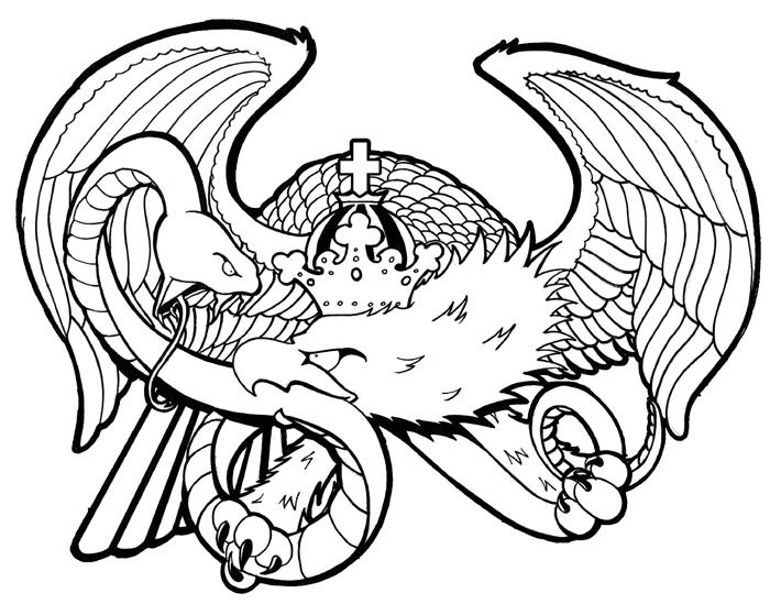 eagle and snake coloring pages - photo #15