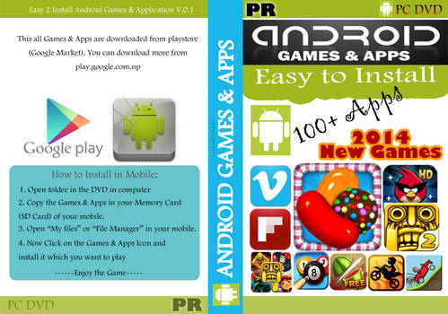 Android Apps and Games DVD Cover New