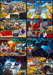 SkySpy Vs The Dinobots by botmaster2005