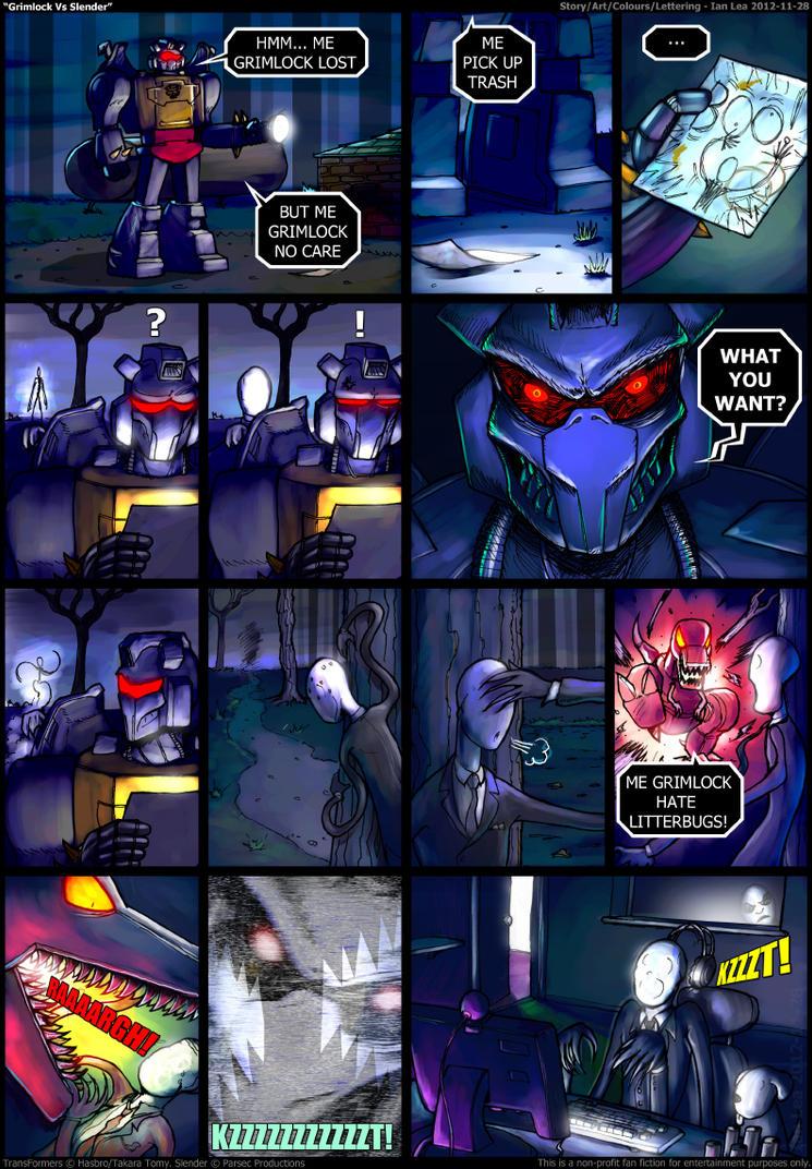 Grimlock Vs Slender by botmaster2005
