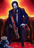 Keanu Reeves as John Wick by botmaster2005