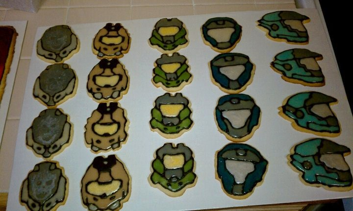 Halo: Reach Sugar Cookies by Stephanefalies