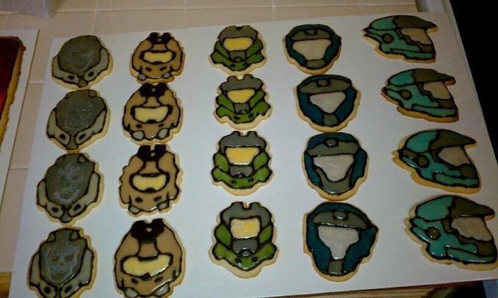 Halo: Reach Sugar Cookies by Stephanefalies