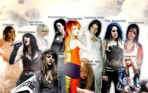 Chicks of Rock-Metal Wallpaper by Ryanx2