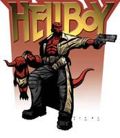 Hellboy w logo by misterbitter