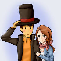 Layton and Claire by EveHime