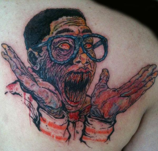 Steve Urkel Tattoo by NickyNightmare