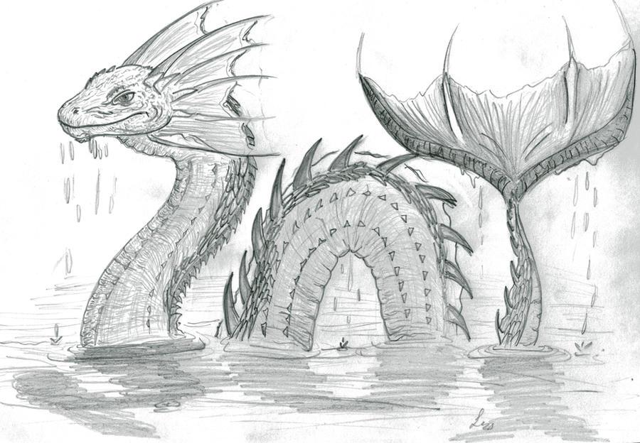 Sea Serpent by xArcox on DeviantArt