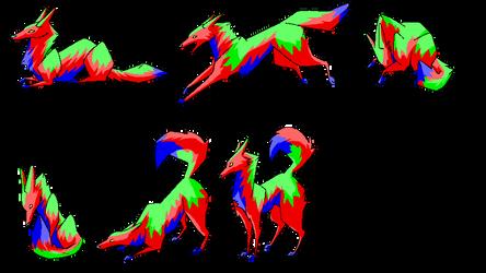 Snouzel Pose Set Tri Colour Free by xArcox