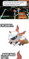 Poor Larvesta. by ILoveSwirlix