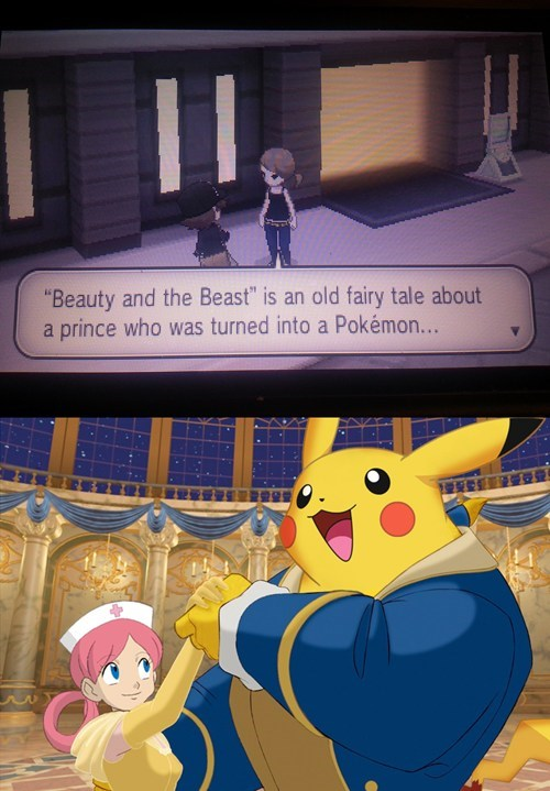 Beauty and the Beast Pokemon by ILoveSwirlix