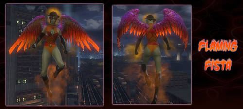 Flaming Fista Valentine Style 2019 DCUO by darthpaul99