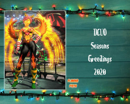Flaming Fista DCUO Winter Seasonal 2020