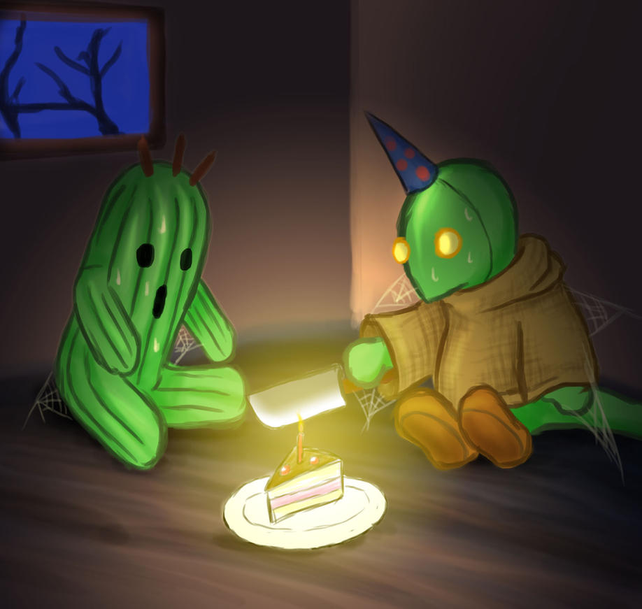 cactuar birthday by Cramous