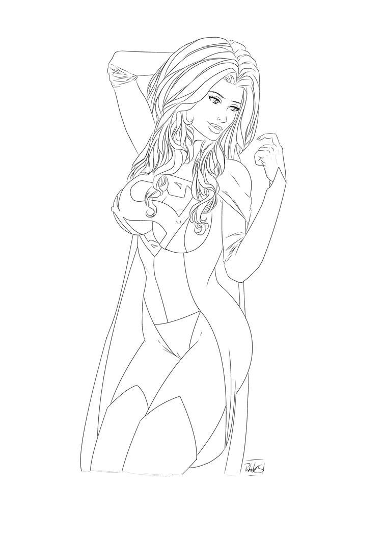 Supergirl (Lines) by PatrickS-Artist