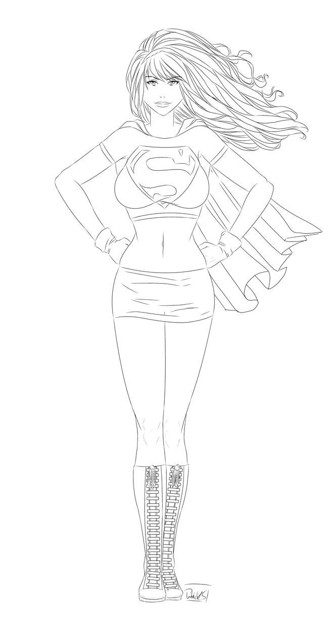 Supergirl (Lines by PatrickS-Artist
