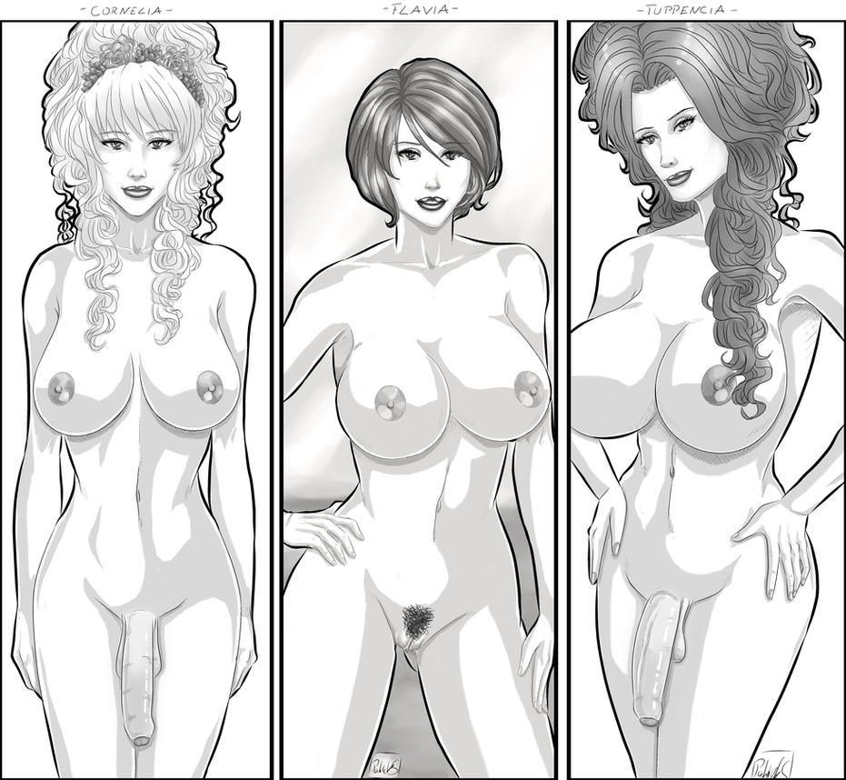 Three Dames by PatrickS-Artist