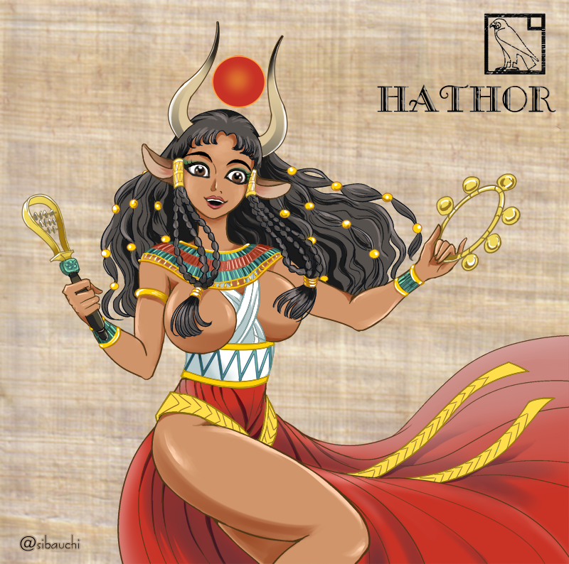 Hathor, goddess of love and joy by Sibauchi