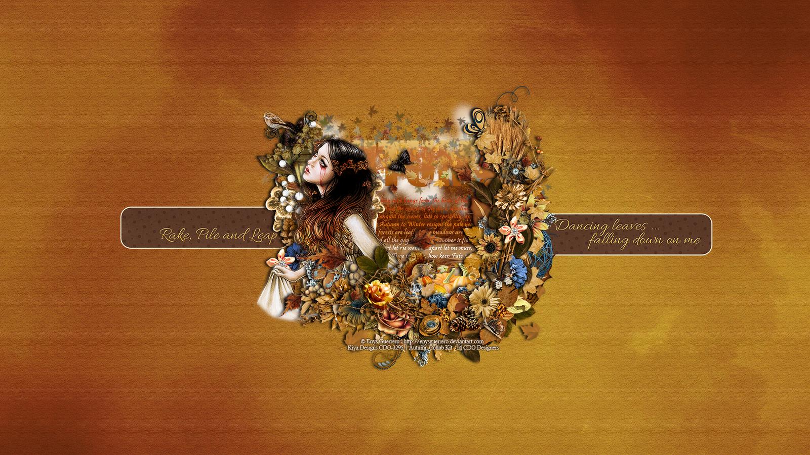 Autumn Nymph Wallpaper by KiyaSama