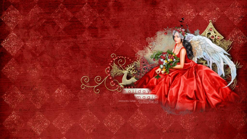 Holiday Magic Wallpaper by KiyaSama