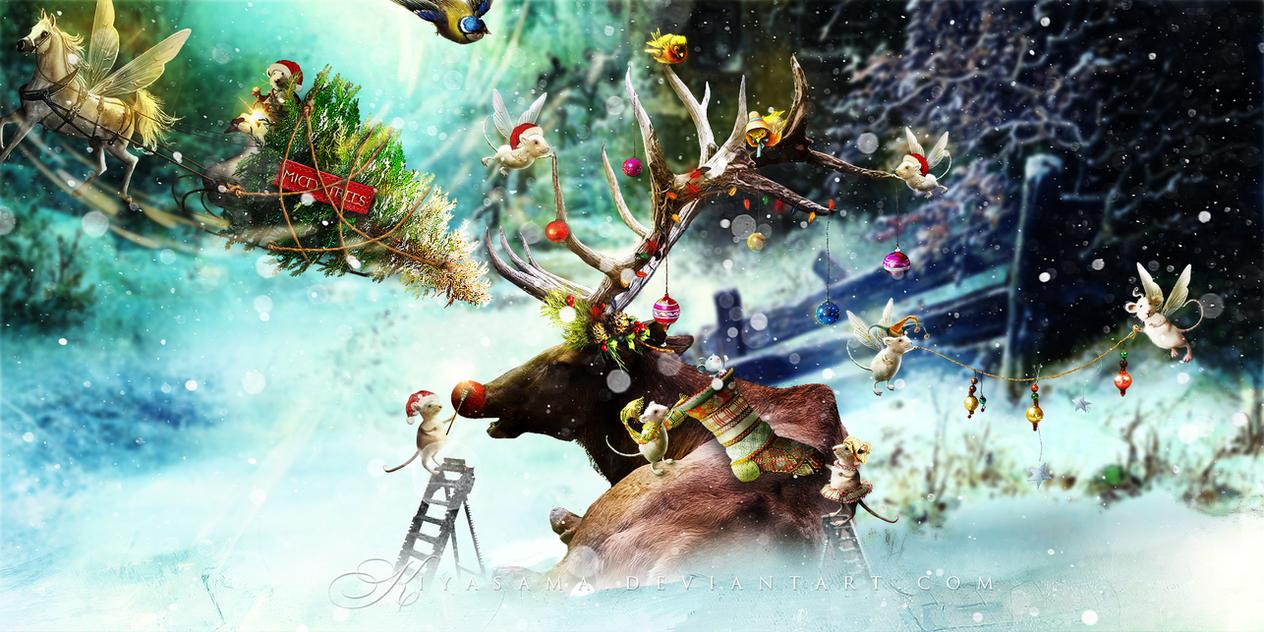 Santa's Little Helpers by KiyaSama