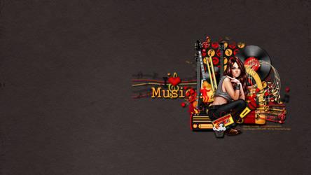 I Love Music Wallpaper by KiyaSama