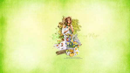 Spring Magic Wallpaper by KiyaSama