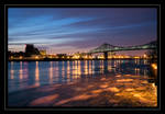 Ice, bridge and sky...