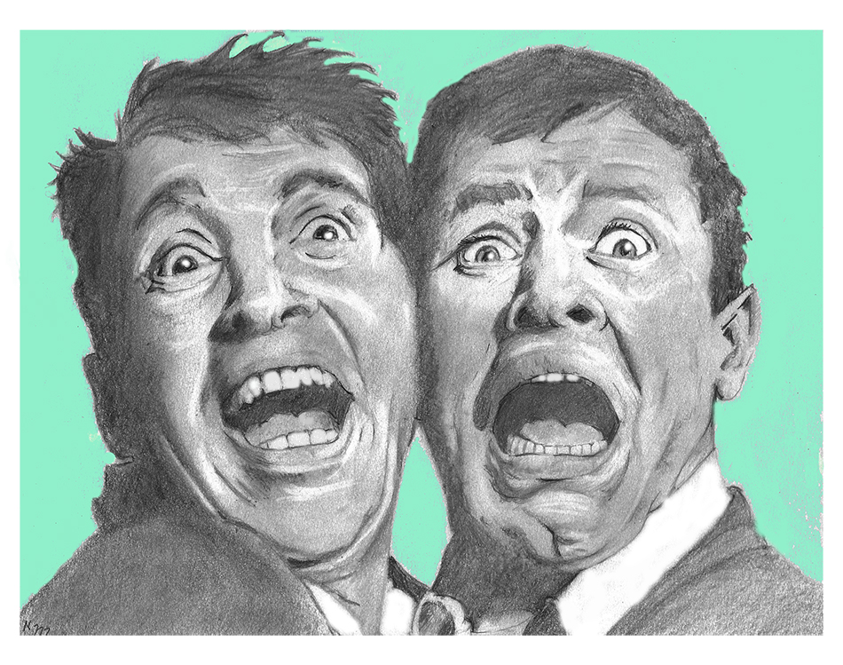 Dean Martin and Jerry Lewis by nev777