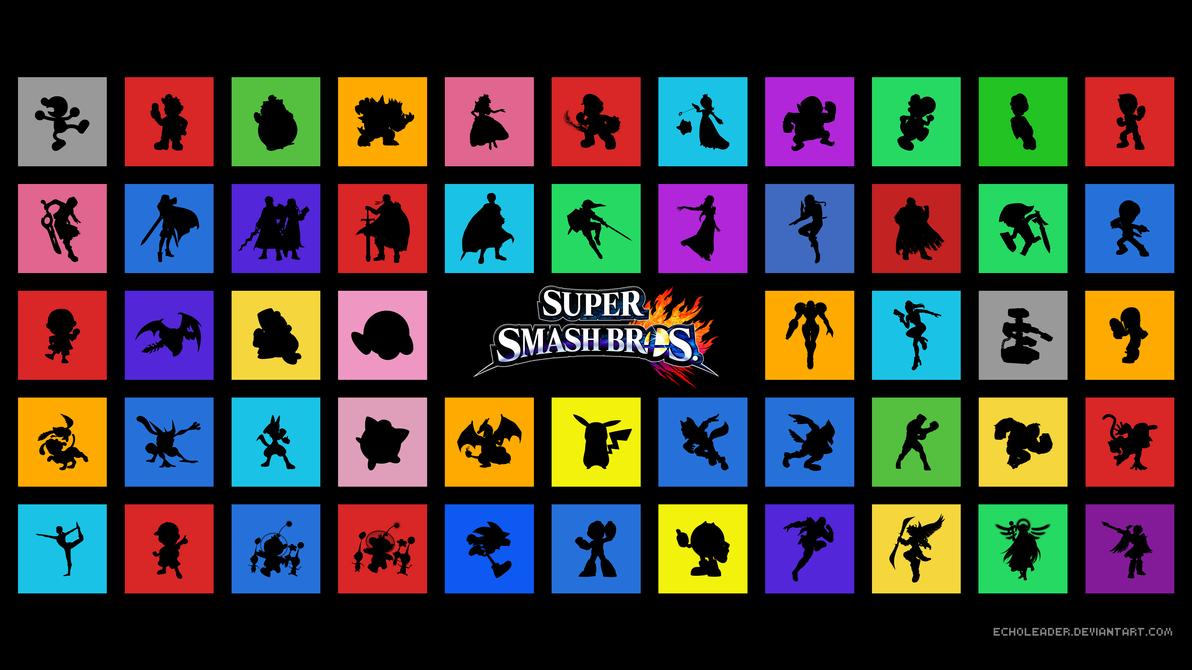 Super Smash Bros 2014 Launch Roster Wallpaper By EchoLeader