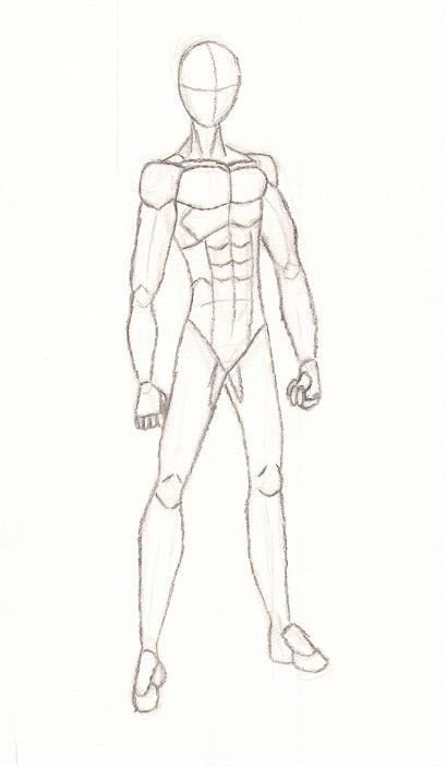 Anime Body Sketch Male