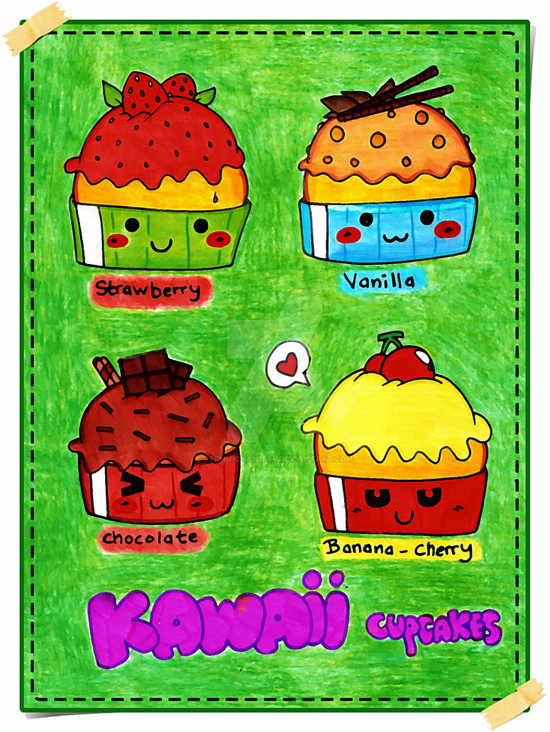 + Kawaii Colourful Capcakes + by Reemu-chan1984
