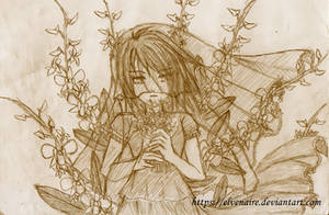 Orchid Bride Sketch
