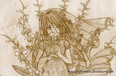 Orchid Bride Sketch by Elvenaire