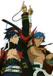 Simon And Kamina Render
